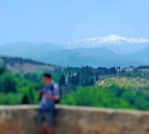 Sierra Nevada sedd från Alhambra.